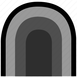 cave, sports, torch icon