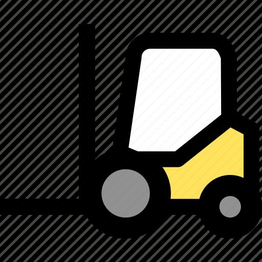 cargo, forklift, goods icon