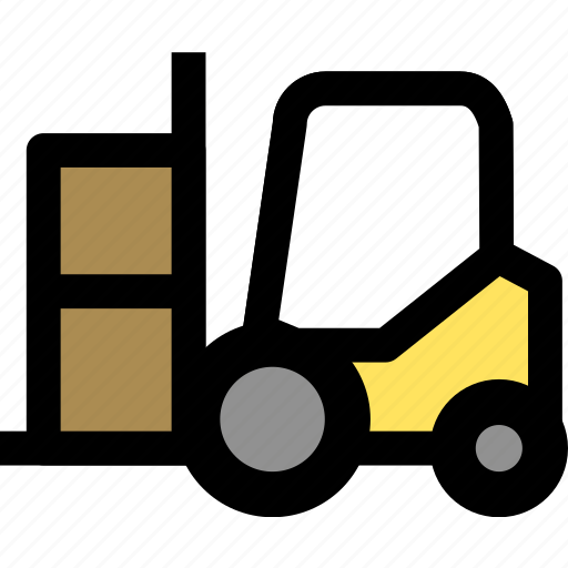 cargo, forklift, goods icon