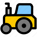 tractor, transport, transportation icon