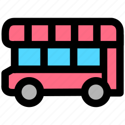 autobus, bus, transport, transportation, vehicle icon