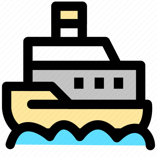 cargo, cruise, delivery, goods, sea, shipping, transport icon