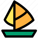 boat, journey, ocean, sailboat, sea, tour, travel icon