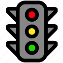 traffic light, trafficlight, transport, transportation icon