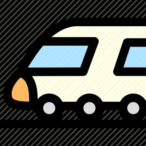 bullet train, railway, subway, train, tramway, transportation, travel icon