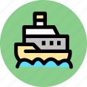 cargo, ship, steamboat, steamer, steamship icon