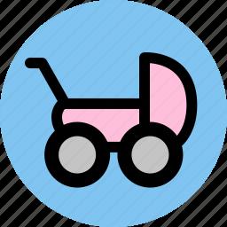 baby, baby car, car icon