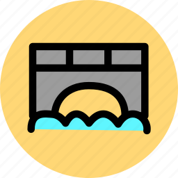 bridge, road, traffic icon