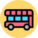 autobus, bus, car, coach, public, transport, vehicle icon