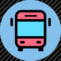 bus, car, public, transport, transportation, travel, van, vehicle icon
