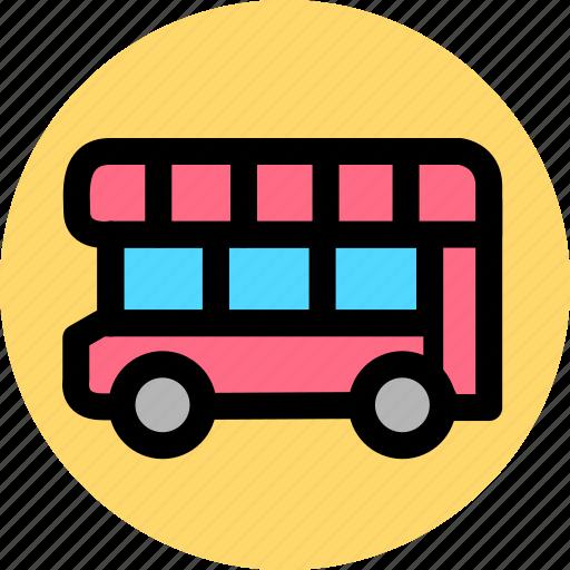 autobus, bus, car, coach, public, transport, vehicle icon