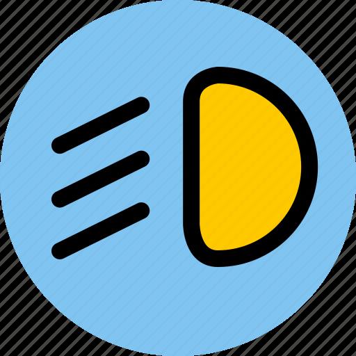 car, light car, low beam, vehicle icon