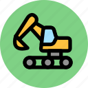 building, construction, excavator icon