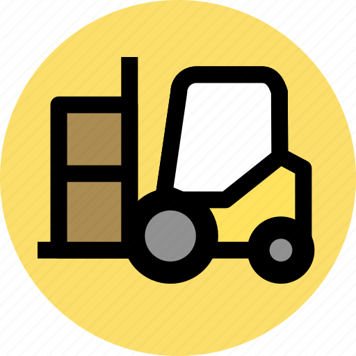 cargo, delivery, forklift, goods, transport icon