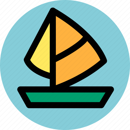holiday, sailboat, tourism, travel, trip icon