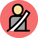 car, seat belt, vehicle icon