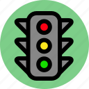 traffic light, transport, transportation icon
