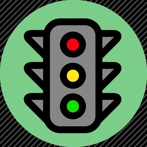 traffic light, transport, transportation icon
