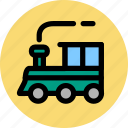 convey, haul, ship, train, transport, travel, vehicle icon