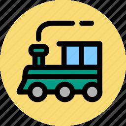 convey, haul, ship, train, transport, travel, vehicle icon