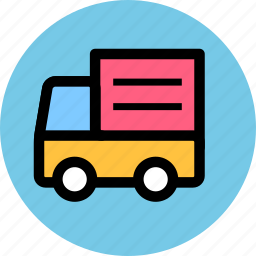 convey, haul, ship, shipping, transport, truck, vehicle icon