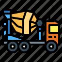 car, cement, mixer, transportation, truck