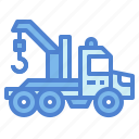 vehicle, transportation, tow, truck, car icon