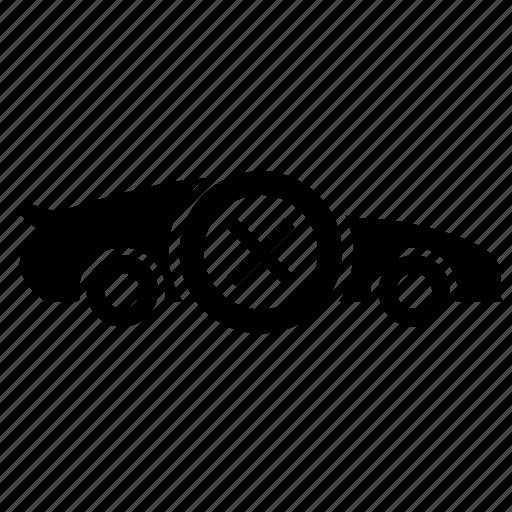 auto, cancel, car, delete, exit, race icon