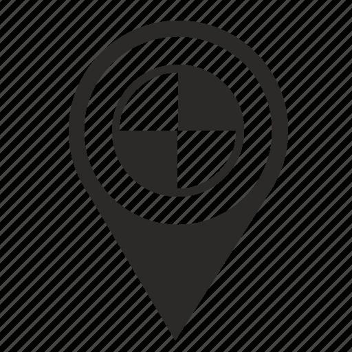 auto, bmw, car, drive, poi, point, pointer icon