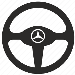 auto, car, drive, mercedes, racing, wheel icon