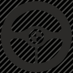 auto, automobile, car, control, drive, wheel icon