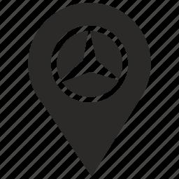 auto, car, map, mercedes, poi, point, pointer icon
