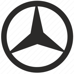 auto, brand, car, mercedes, round, sign, star icon