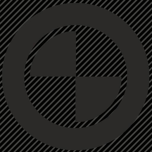 auto, bmw, car, drive, round, wheel icon