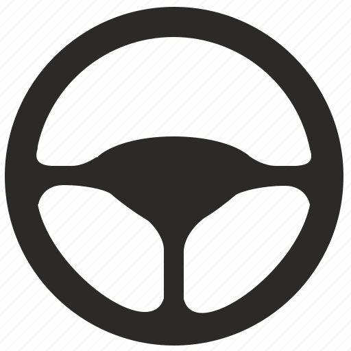 auto, car, drive, round, wheel icon