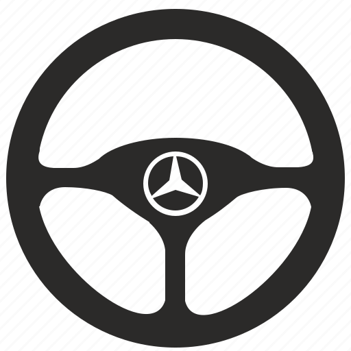 auto, car, drive, mercedes, round, sedan, wheel icon