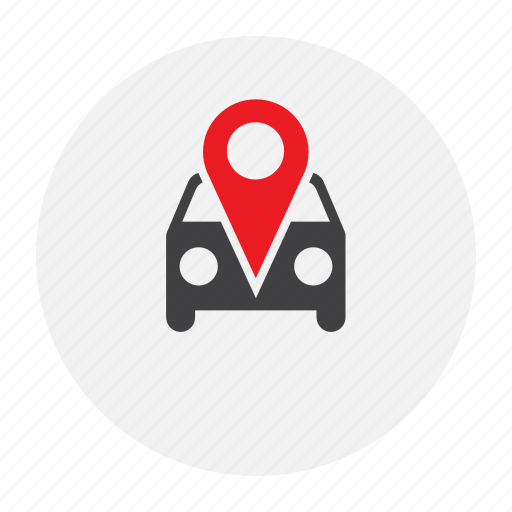 car, map, marker icon