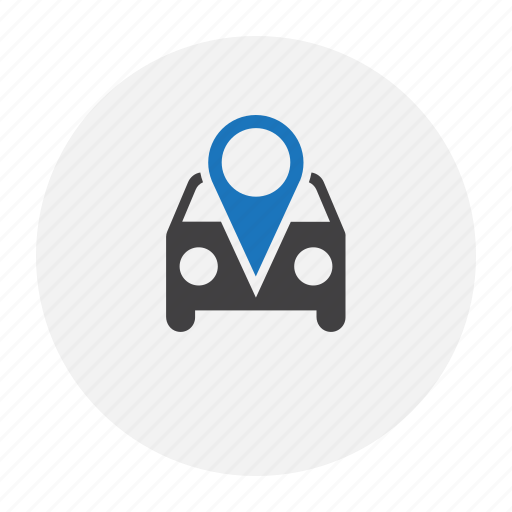 car, map, marker, parking icon