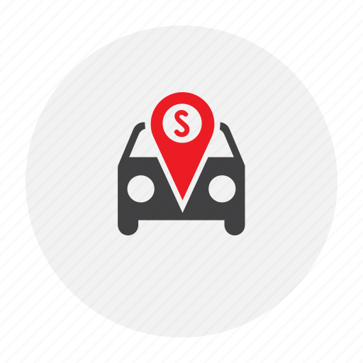 car, map, marker, stop icon