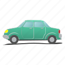 auto, automobile, car, engine, motor, sedan, traffic icon