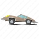 car, fun, funny, hardtop, retro, sport, toy icon