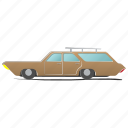 auto, automobile, element, engine, estate-car, single, station wagon icon