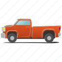 auto, automobile, element, engine, pickup, single, wagon icon