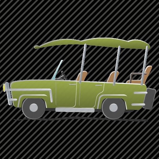 car, electra, game, golf, play, recreation, spring icon