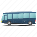 bus, commercial, public, tour, transportation, travel, white icon