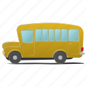 bus, commercial, school, schoolchild, transportation, travel, white icon
