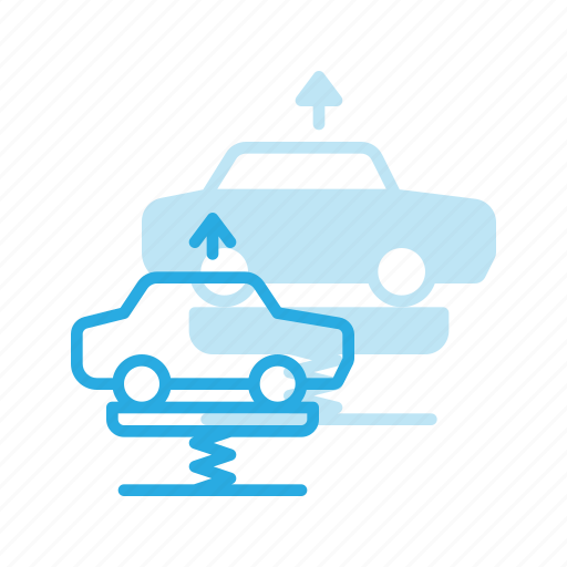 car, garage, lift, lifting icon