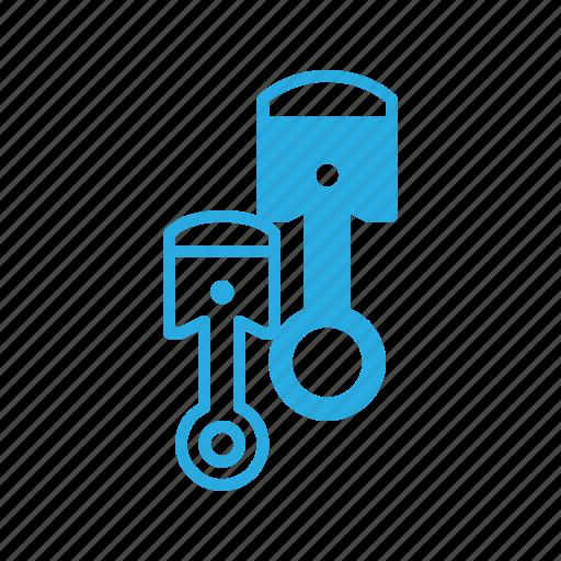 car, component, part, piston, vehicle icon