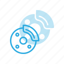 break, car, component, dashboard, disk, tire icon