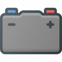 accumulator, car, component, power icon